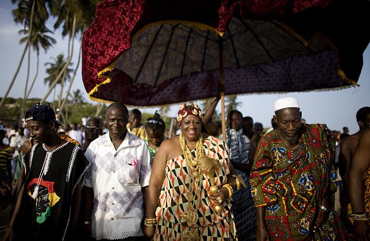 OTUAM, GHANA- OCTOBER 3: King Peggielene